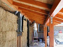 Straw-bale construction. I want thick, well insulated walls in my house. Straw seems to deliver both at a low cost