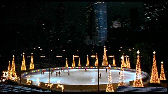 Wollman Rink, Central Park, NYC. Via Serendipity Film Locations - OnthesetofNewYork.com