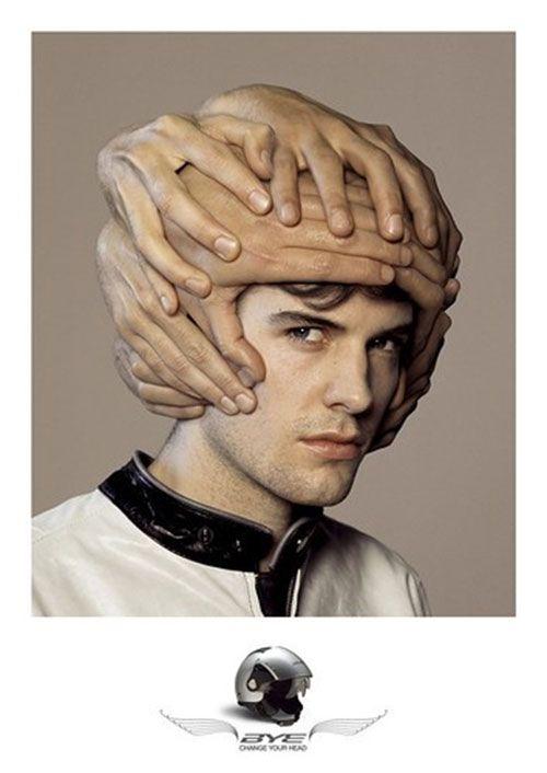 Anuncio de casco, protección de la cabeza #marketing #publicidad #creatividad