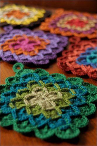Crocheted potholders..