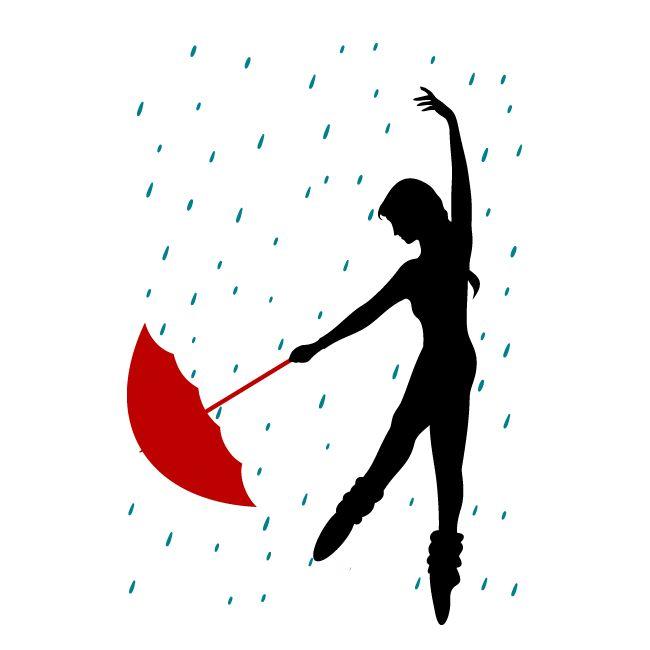 Vinilos Decorativos Bailando Bajo La Lluvia