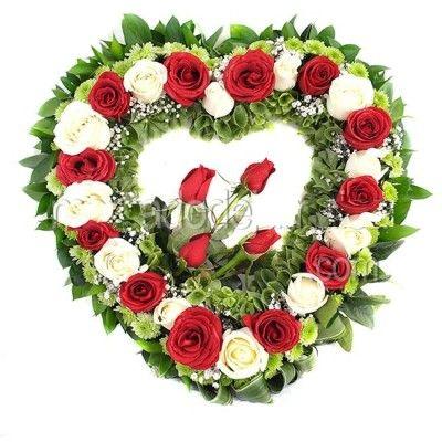 arreglos florales de corazon hermosas