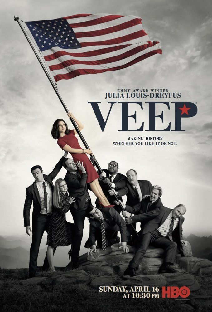 Julia Louis-Dreyfus, Anna Chlumsky, Gary Cole, Kevin Dunn, Tony Hale, Matt Walsh, Reid Scott, Sam Richardson, and Timothy Simons in Veep (2017)
