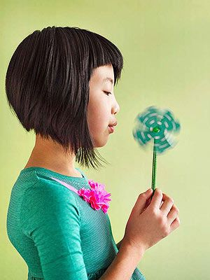 Spinning Shamrock: You won't need luck to get this St. Patrick's Day pinwheel to turn — just a puff of air.