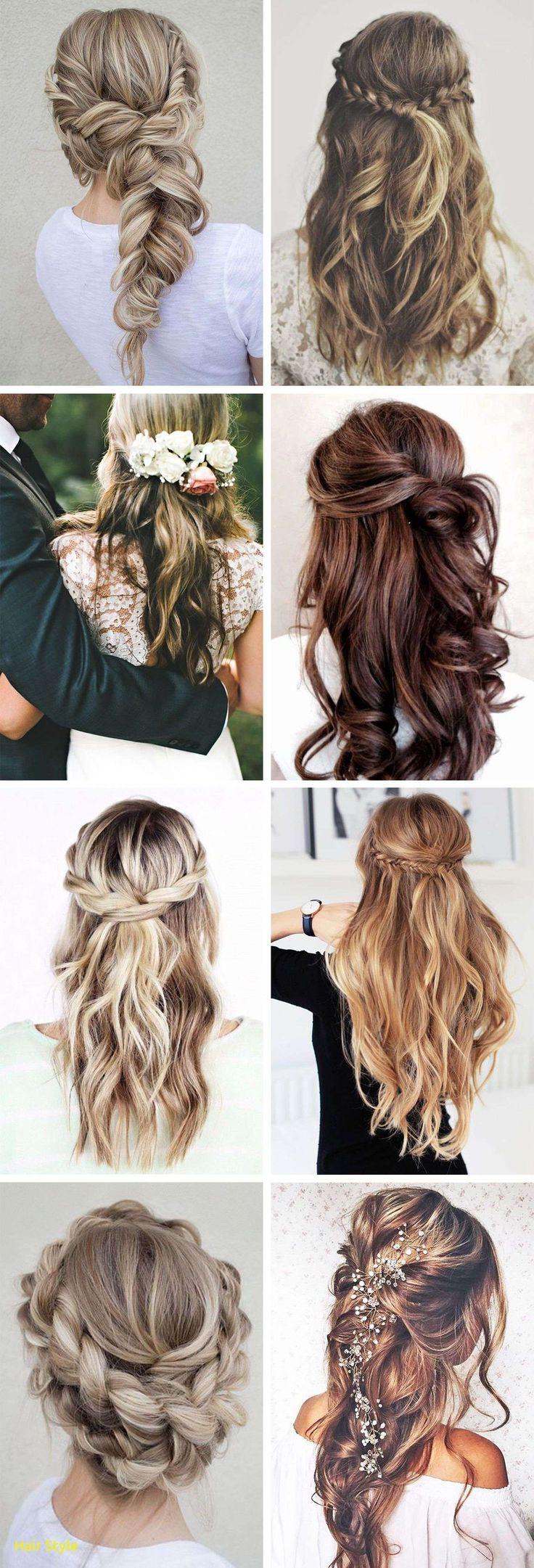 Unique wedding hair braids and curls
