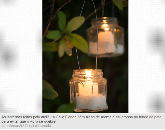 Tealights - Frascos de vidro com sal grosso