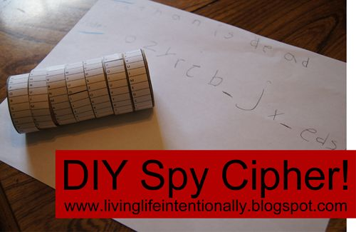 DIY Spy Cipher brings the Revolutionary War to life for kids. Check out the instructions and learn about the entire {free} unit including free lapbook, resources, activities, field trips, and more at www.livinglifeintentionally.blogspot.com