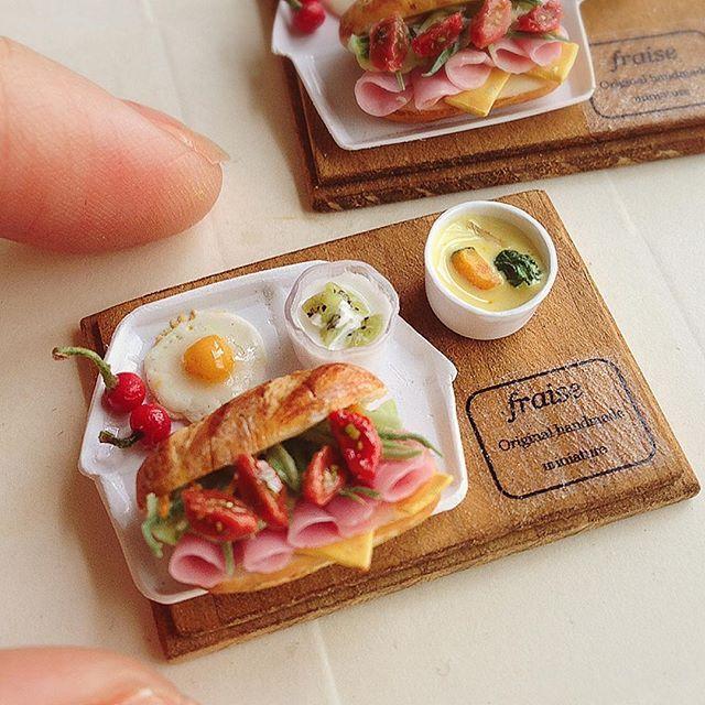 2017, Miniature Sandwich plate ♡ ♡  By Fraise