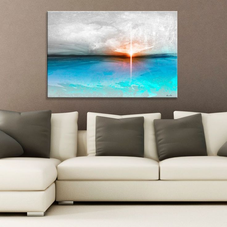 Modern abstract canvas original painting giclee wall art for Blank canvas designs wall art