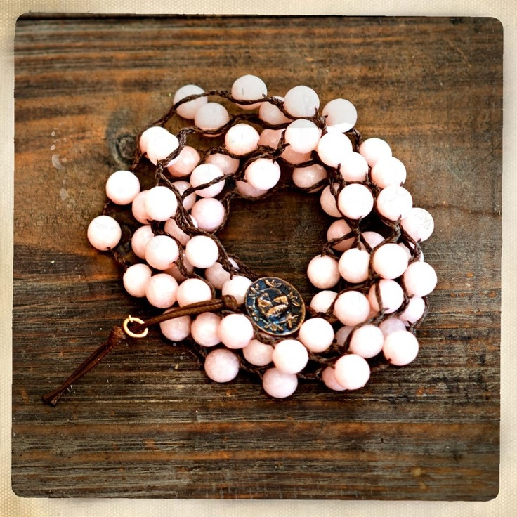 Love Heals Jewelry pink Jade bracelet I won for my sister who is battling Breast Cancer. @loveheals