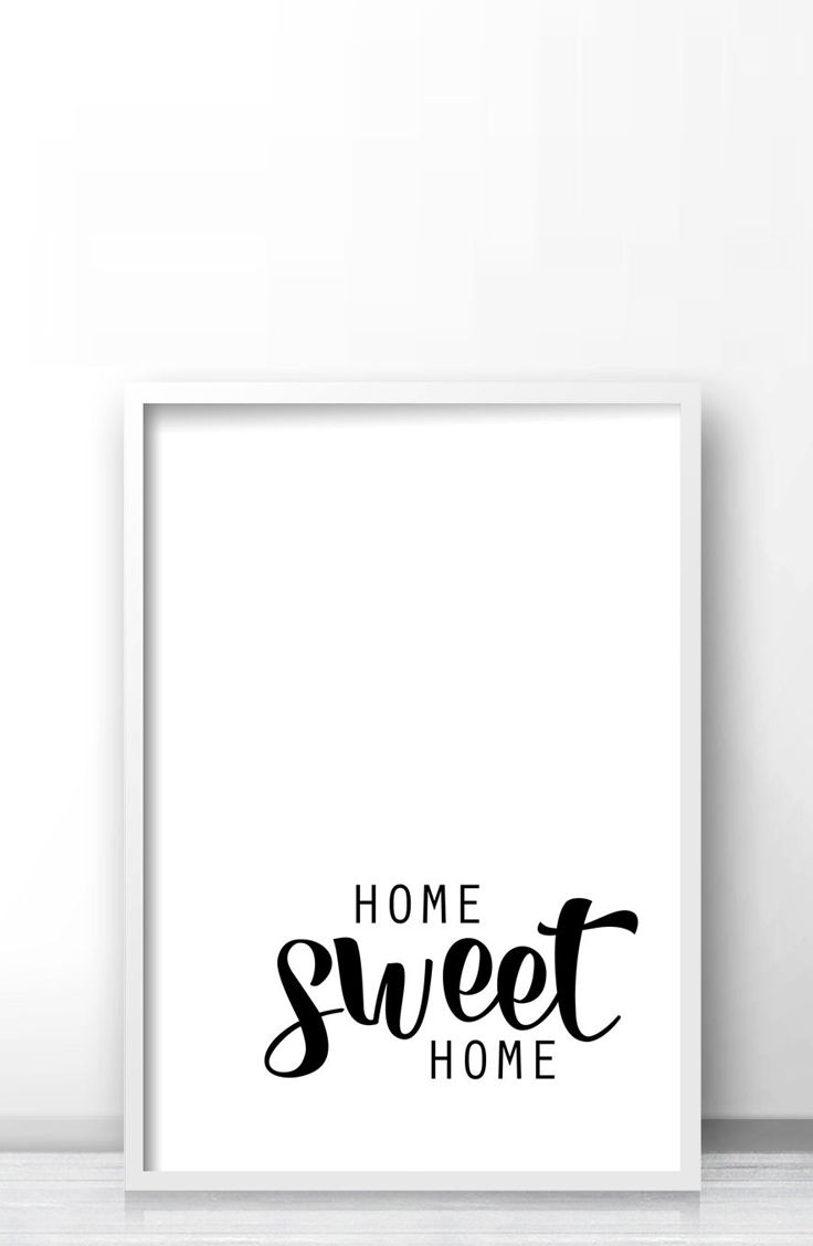 Home sweet home quote print, Printable minimalist wall art by Limitation Free