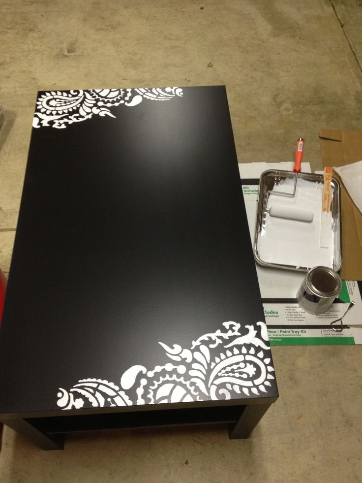 Furniture stenciling ... i think i'm hooked!