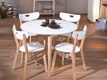 Zestaw Simple z 4 krzesłami w 3 kolorach do wyboru od #internumpolska / Set Simple - Table with 4 chairs