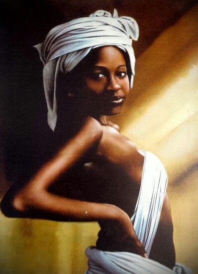 My African woman art