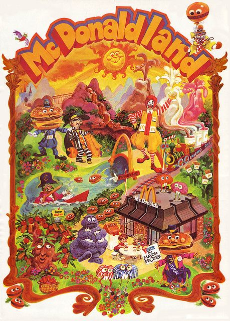 Remember all those characters? McDonalds - McDonaldland premium poster - Early 1970's, via Flickr.