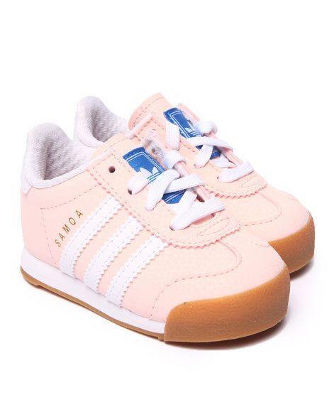 light pink samoa's by addidas.