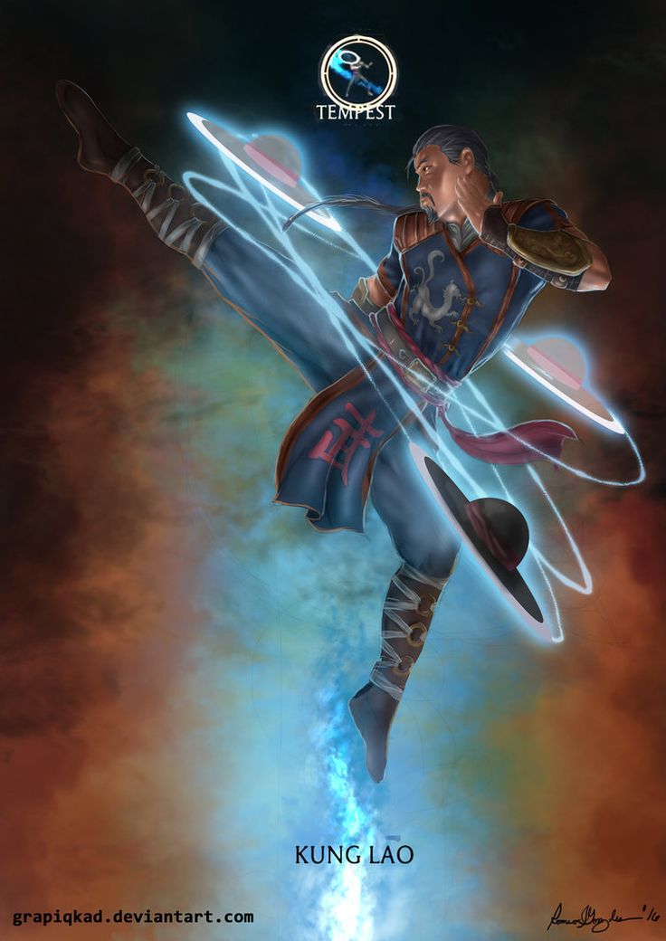 Mortal Kombat X-Kung Lao tempest Variation by Grapiqkad