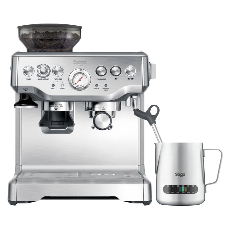 Buy Sage by Heston Blumenthal Barista Express Bean-to-Cup Coffee Machine with Temperature Control Milk Jug, Stainless Steel from our All Coffee Machines range at John Lewis. Free Delivery on orders over £50.