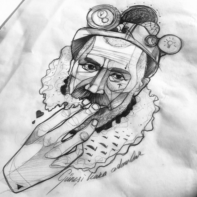 Günesi kara adamlar.. #mine #worker #miner #sketch #wanna #tattoo #it #man #sketch #dövme #illustration #berlin #istanbul