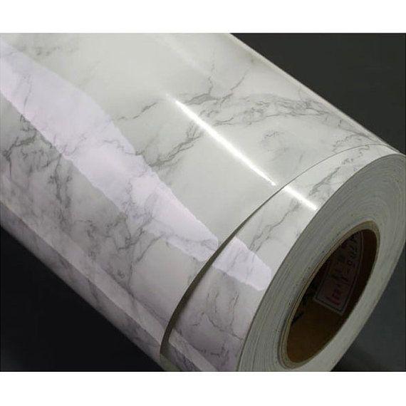 Weiße Granit Look Marmoreffekt Counter Top von verryberrysticker