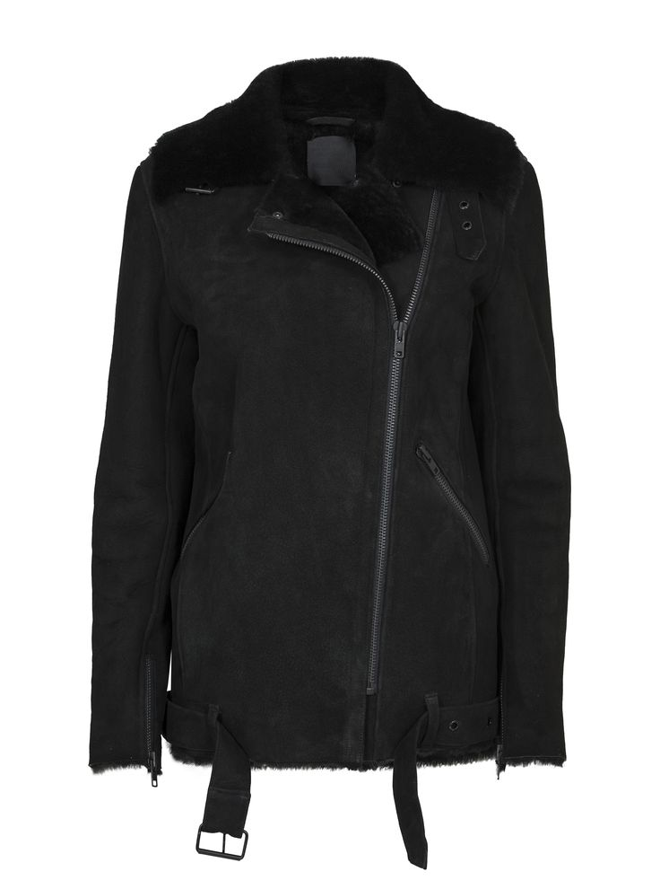 JUST FEMALE AW 2014 // CHIN SHEARLING JACKET