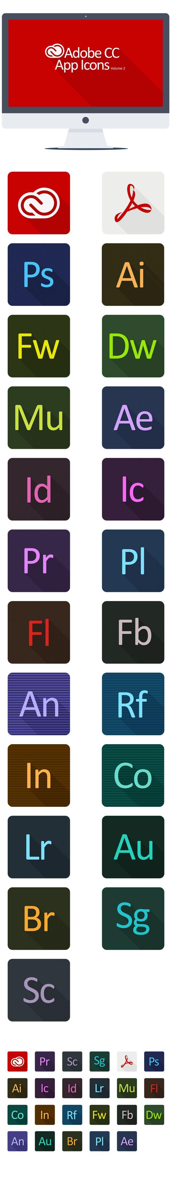 Adobe CC App Icons Volume 2 by KPL Designs , via Behance