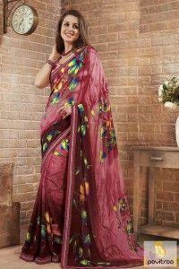 Exquisite Multi Printed Georgette Saree #saree, #georgettesaree more: http://www.pavitraa.in/catalogs/georgette-art-silk-printed-sarees/?utm_source=rn&utm_medium=pinterestpost&utm_campaign=30jun