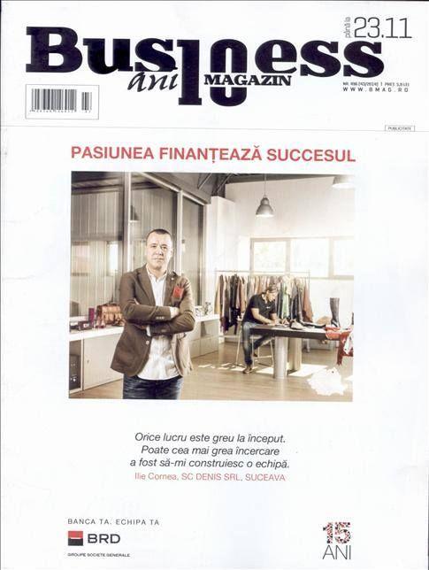 Stii care este cheia succesului? Noul numar al revistei Business Magazin pozitioneaza pasiunea ca fiind cea mai importanta conditie pentru a avea succes intr-o afacere.  Aboneaza-te gratuit la Titlurile Zilei si fii la curent cu prima pagina a ziarelor si revistelor din Romania acum: http://www.titlurile-zilei.ro/economie-business #business #pasiune