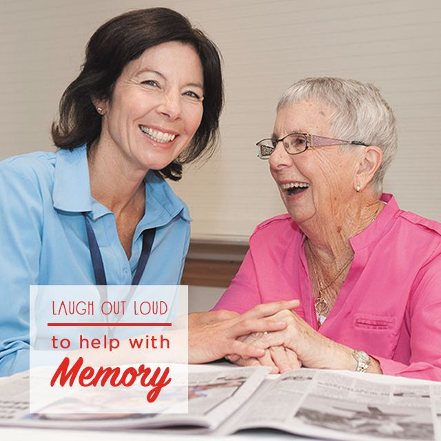 Don't underestimate a good belly laugh! New research reveals that older people are far more likely to remember something if they've been laughing. Click on the picture to find out why.