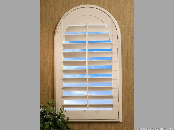 Window Covering Ideas & Inspiration: Louvered Arch Shutters Image