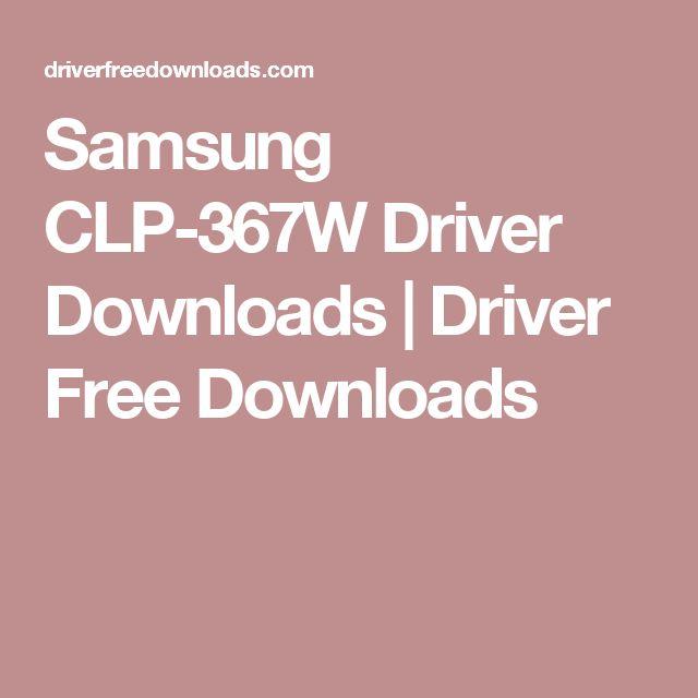 Samsung CLP-367W Driver Downloads | Driver Free Downloads