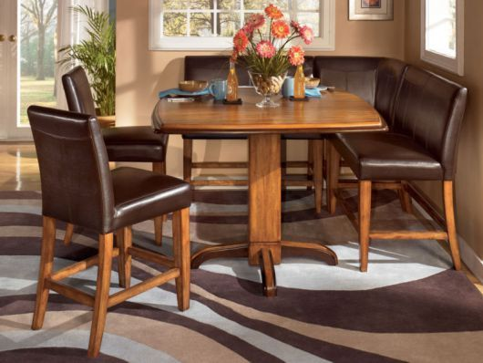 Leather Banquette Dining Sets Counter Height Dining Set