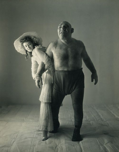 "PEOPLE ¥ Maurice Tillet  (1903 – August 4, 1954)  a French wrestler with acromegaly known as The French Angel. He spoke 14 languages and was also a poet and actor. ""Perfect example of 'Never judge a book by its cover'.""...he was also used as the inspiration for the movie Shrek."