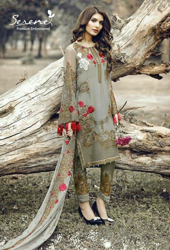 9e8b83e2f8 Pakistani Designer Clothign - Top Designer Dress Serene in Dark Green Color  Online at Nameera by Farooq, Visit Now : www.NameerabyFarooq.com or Call ...