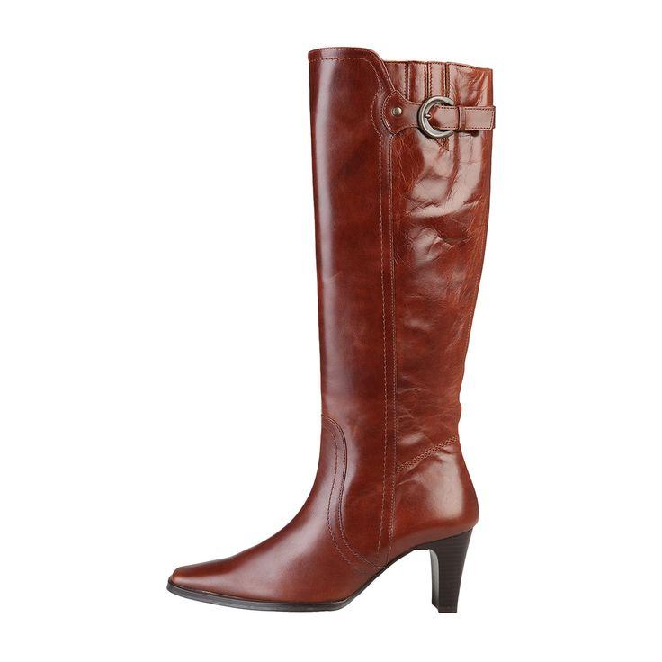 Snygg skinnstövel från Arnoldo Toscani. Bruna skinnstövlar med dragkedja i sidan och 7 cm klackhöjd. Köp den hos AuMalkia. #aumalkia #stövlar #boots #damskor