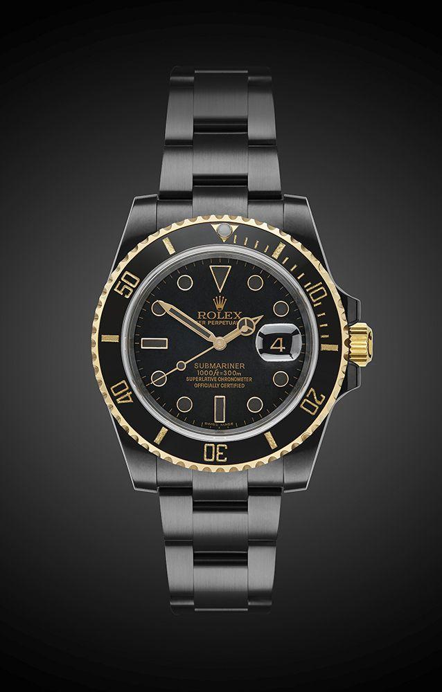 Titan Black DLC Rolex Submariner: Oro