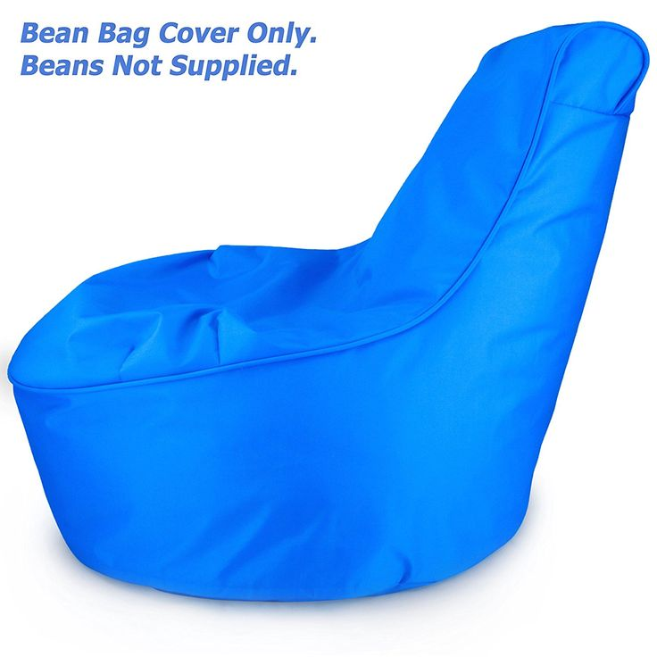 Amazon Comfy Kids Bean Bag Chair Cover Only Electric Blue Stain Resistant Tough Waterproof Material Space Saving For