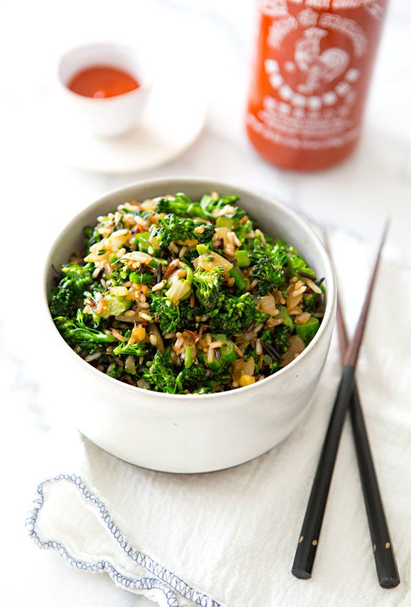 BROCCOLINI FRIED RICE - a house in the hills