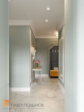 Фото: Холл - Квартира в стиле американской неоклассики, ЖК «Академ-Парк», 107 кв.м.