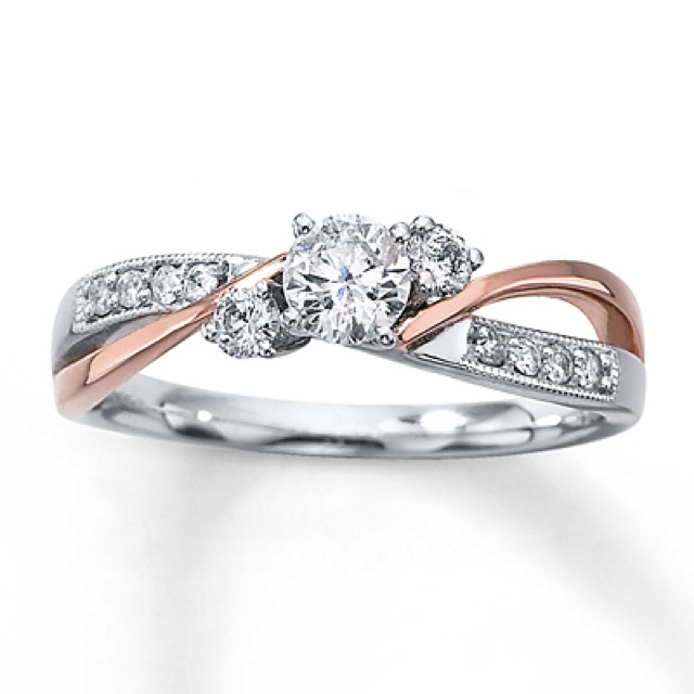 kay jewelers engagement ring ive never been big on the two toned rings - Wedding Rings At Kay Jewelers