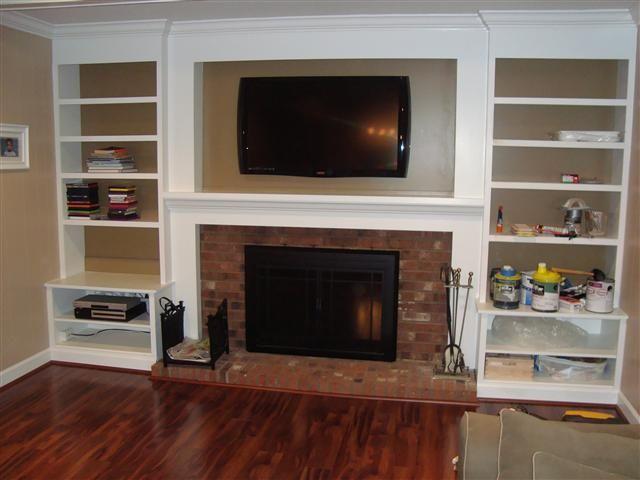 best 20 bookshelves around fireplace ideas on pinterest shelves around fireplace fireplace. Black Bedroom Furniture Sets. Home Design Ideas