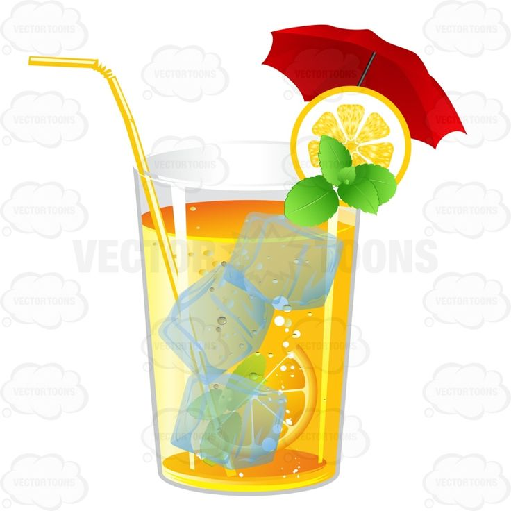 Tumbler Glass Garnished With Lemons And Mint #alcohol #beverage #drink #fruit #garnish #garnished #non-alcoholic #orange #orangeslices #orangewedges #red #umbrella #virgin #wedge #yellow