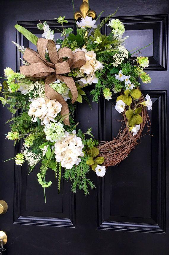 10% OFF Spring Wreaths for Front Door Spring by FleursDeLaVie