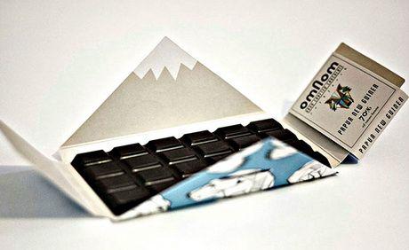 Упаковка шоколада из Исландии удивляет своей уникальностью.