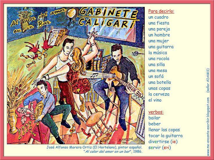 Me encanta escribir en español: José Alfonso Moreira Ortiz (El Hortelano): Al calor del amor en un bar.