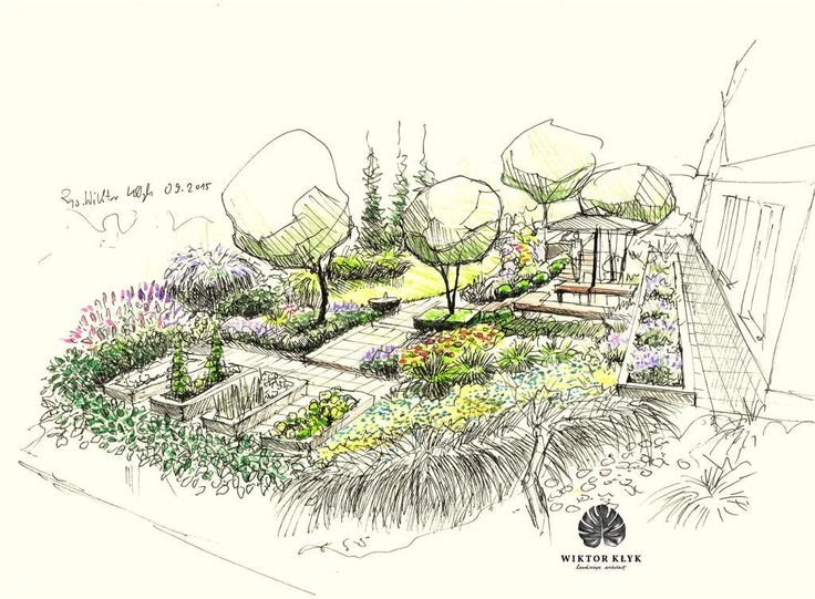 22 best landscape design and construction by hively for Garden design sketches