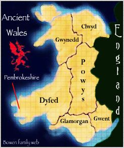 Map of Ancient Wales