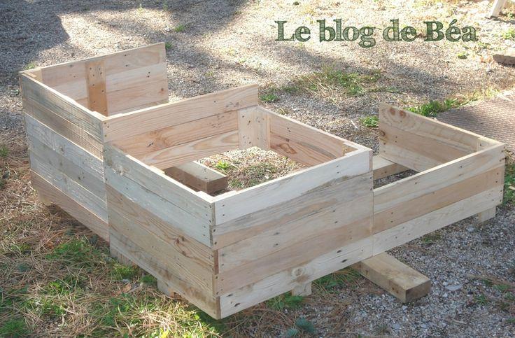 DIY carré potager en bois de palette  Projets à essayer  Pinterest ~ Goudron De Bois