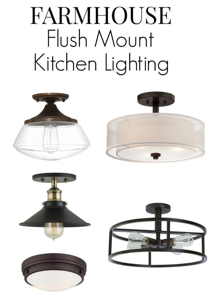 Farmhouse Kitchen Lighting Ideas Flush Mount Kitchen Lighting Kitchen Lighting Over Table Kitchen Lighting