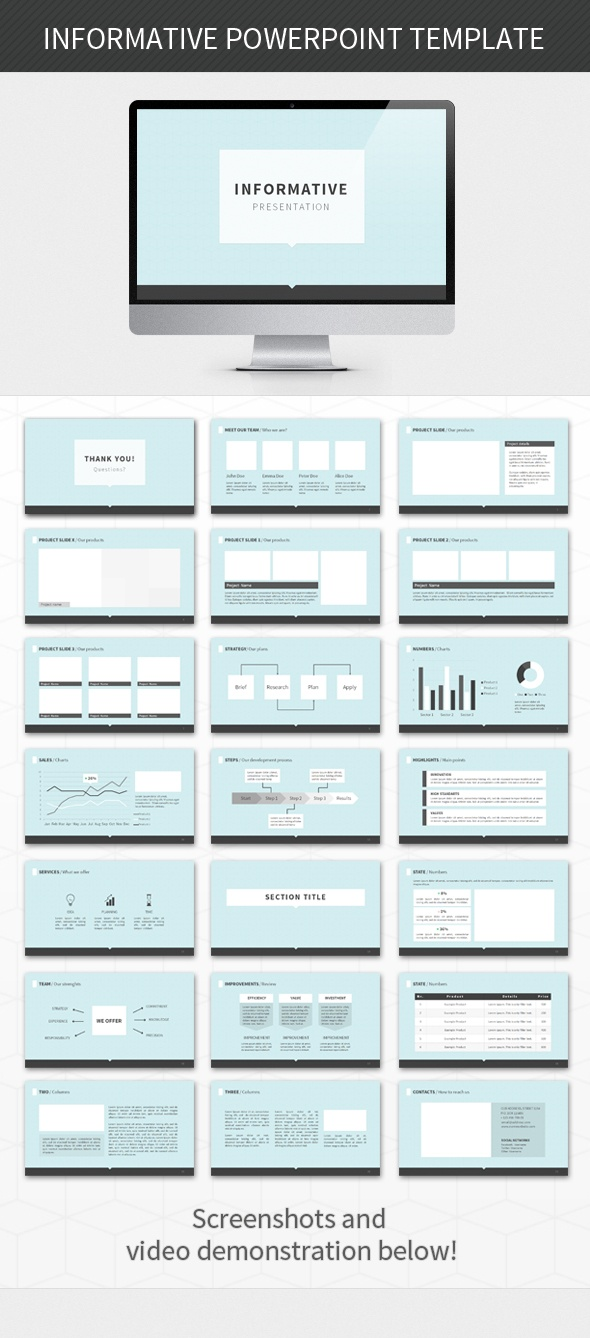 - Informative PPT -  Presentation template goes well with corporate, business and other themes.    Check this and more at: http://graphicriver.net/item/informative-powerpoint-template/2942004?ref=stunvisuals